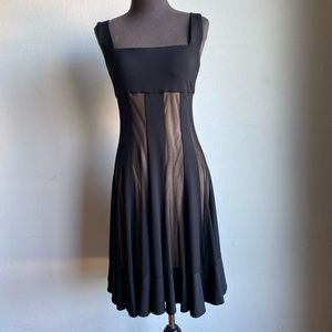 Maggy London sz 10 stripped cocktail dress